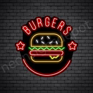 Burger Stars Neon Sign