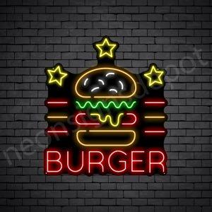 Burger Stars V2 Neon Sign