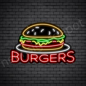 Burgers V2 Neon Sign