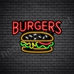 Burgers V3 Neon Sign