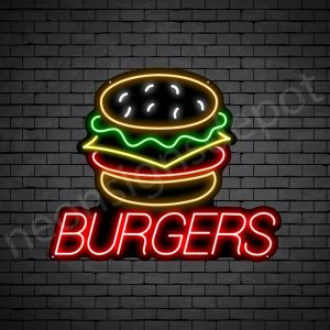 Burgers V4 Neon Sign