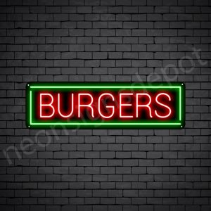 Burgers V6 Neon Sign