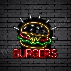 Burgers V7 Neon Sign