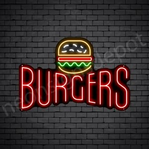 Burgers V8 Neon Sign