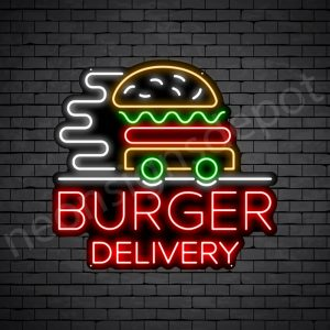 Burgers delivery Neon Sign