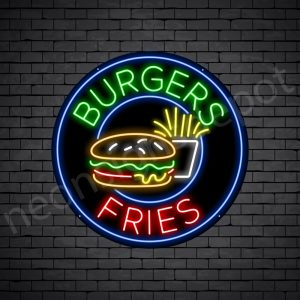 Burgers fries Neon Sign