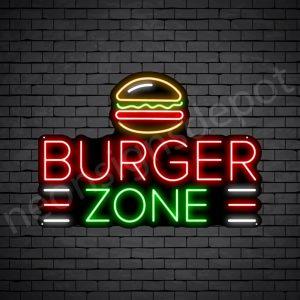 Burgers zone Neon Sign