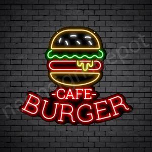 Cafe Burger Neon Sign