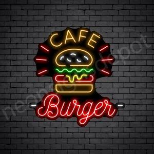 Cafe Burger V2 Neon Sign