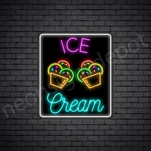Ice Cream V11 Neon Sign