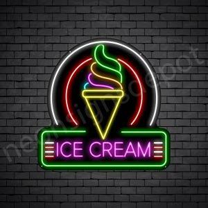 Ice cream V2 Neon Sign