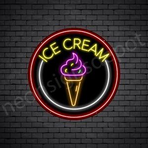 Ice cream V6 Neon Sign