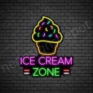 Ice cream Zone Neon Sign