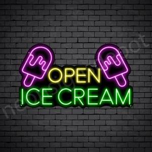 Open Ice cream Neon Sign