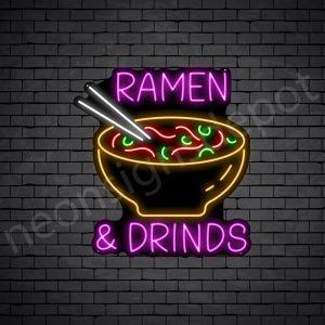 Ramen & Drinks Neon Sign